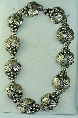 Vintage Cof Carl Ove Frydensberg Denmark Sterling Silver Grapes Necklace