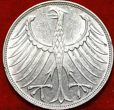 1973-D Germany 5 Mark Silver Foreign Coin Free S/H