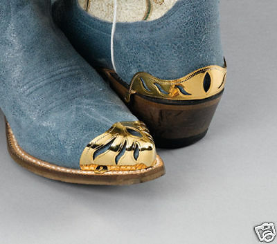 New! Western Cowboy Boot Tips Rand - Brass - TIPS ONLY!