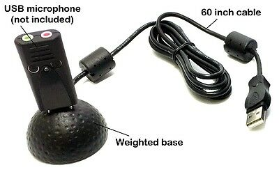 Weighted Microphone Holder with 5 Foot USB Extension