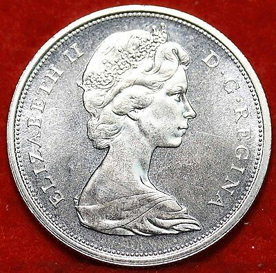Uncirculated 1966 Canada 50 Cents Silver Foreign Coin Free S/H