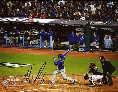 Anthony Rizzo Chicago Cubs 2016 MLB World Series Champions Signed 8 x 10 Photo