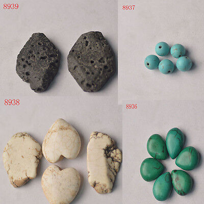 Lots Natural Stone Ceramics Beads Pendant Fish Tank Decorations Craft Jewelry