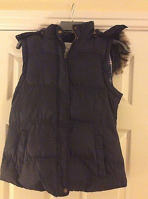Girls Navy Blue Gillet, Size 16 Years, Tammy By BHS, Excellent Condition