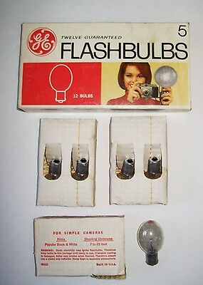 Vintage GE Clear Sure-Fire Flashbulbs 5 - 12 Ct.