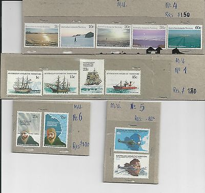 Australian Antarctic Territory - Selection Of Mint Stamps - 2 Scans
