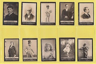 Ogdens Guinea Gold  Mixed Bases - Numbered Cards - 10 Different   (Ab)   -  1901