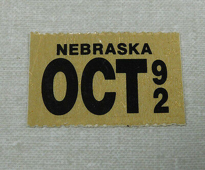 1992 Nebraska passenger car license plate sticker