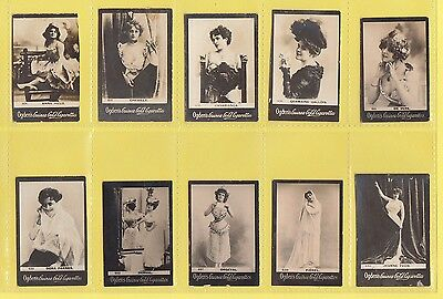 Ogdens Guinea Gold  Mixed Bases - Numbered Cards - 10 Different   (Ag)   -  1901