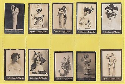 Ogdens Guinea Gold  Mixed Bases - Numbered Cards - 10 Different   (Ah)   -  1901