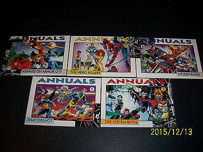 1992 Marvel Promo cards - Annuals lot 1-6, missing #2