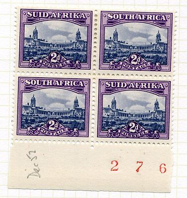SOUTH AFRICA; 1952 Pictorial Parliament  issue 2d. fine MINt MLH MARGIN Sheet No
