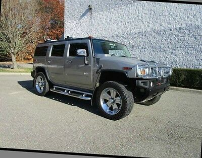 2003 Hummer H2 Base Sport Utility 4-Door 03 Hummer H2 Leather Moonroof Third Row Seat DVD Heated Seats  Clean Car fax
