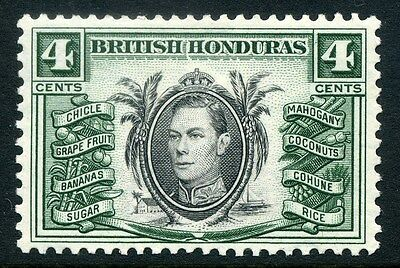 BRITISH HONDURAS;  1938 early GVI issue fine Mint hinged 4c. SP-245633