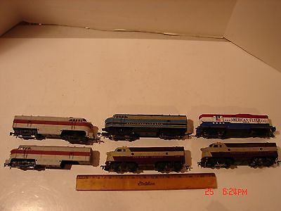 Vintage Lot Ho Scale Train Railroad Engines Dummy Cars Parts Repair Junk Yard