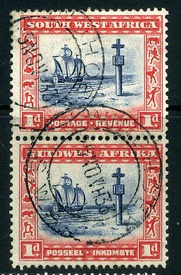 SOUTH WEST AFRICA; 1931 early  issue 1d. fine used Pair