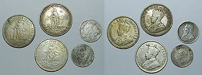 SOUTH AFRICA : 5 OLD SILVER COINS  19th-20th Century