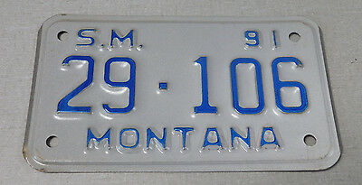 1991 Montana special machinery license plate