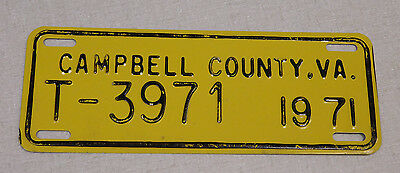 1971 Campbell County Virginia truck license plate