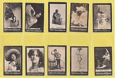 Ogdens Guinea Gold  Mixed Bases - Numbered Cards - 10 Different   (Ao)   -  1901