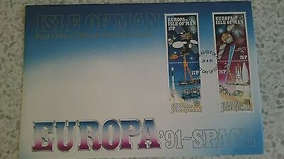 Isle of Man stamps FDC (1991) - Europa '91 - Space