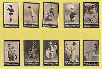 Ogdens Guinea Gold  Mixed Bases - Numbered Cards - 10 Different   (Aq)   -  1901