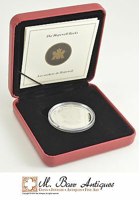 2004 Canada $20.00 Hopewell Rocks Silver Proof Coin *0297