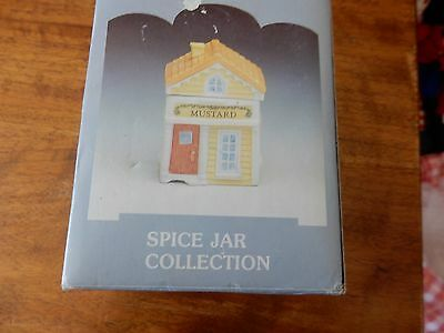 "Country Kitchen Spice Jar Collection ""Mustard"" 1994"