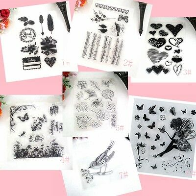 DIY Clear Transparent Silicone Rubber Stamp Sheet Cling Scrapbooking Card Craft