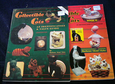 Collectible Cats, Kittens Figurines Collector Book with Values a 2 Volume Set