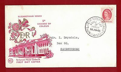 1965 Australia First Day Cover Change of Colour 5d Melbourne - Drysdale 30.06.65