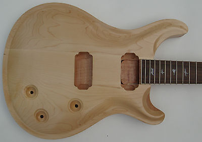 New top grade Unfinished electric guitar body with neck , Excellent handcraft