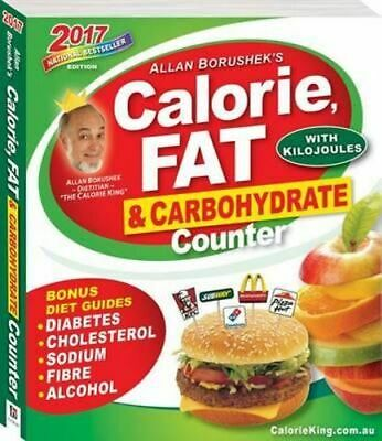 NEW Allan Borushek's Calorie, Fat and Carbohydrate Counter 2017 By Allan Borushe