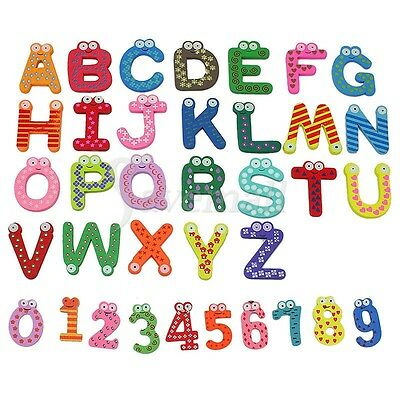 36 Magnetic Letters Numbers Childrens Kids Alphabet Spelling Fridge Magnets