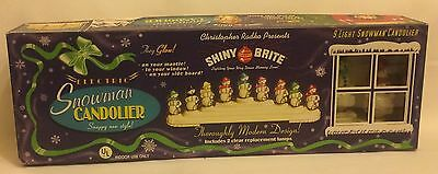 Christopher Radko Shiny Brite Electric Snowman Candolier Christmas Lights