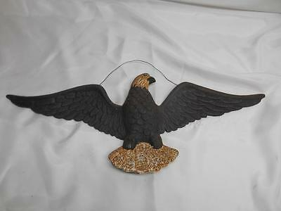 Antique Cast Iron American Bald Eagle Wall Barn Door Decor Plaque Hanging Old