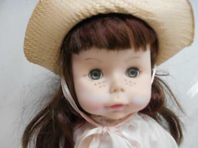 """Old Vtg 1971 EFFENBEE BABY DOLL w/ Clothes Outfit Flirty Sleeper Eyes 15"""" tall"""