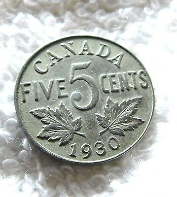 1930 Canada  5 Cents   almost a Century old 5 Cents Canada   A15-176
