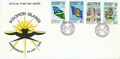 Solomon Islands stamp FDC: 1978 Independence SB124284