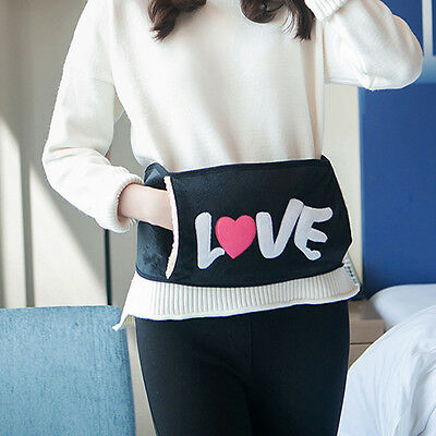 Electric Tummy Hand Warmer Velvet Waist Wearing Hot Water Bottle Belt Bag Cover