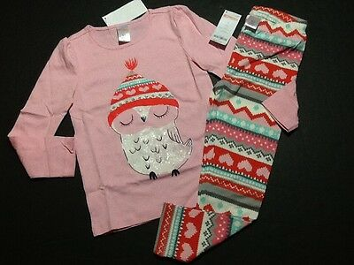 Gymboree Outlet Exclusive Holiday Fair Isle Owl Tee Shirt Top Leggings NWT