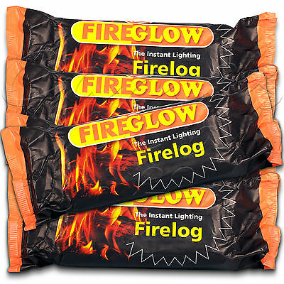 FLAMEFAST Fireglow Easy to Light NO MESS Smokeless Fire Logs For Smaller Stoves