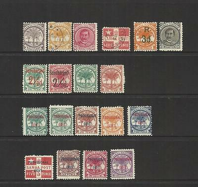 Samoa (New Zealand) ~ 1886-1900 Definitives & Provisionals (Small Collection)