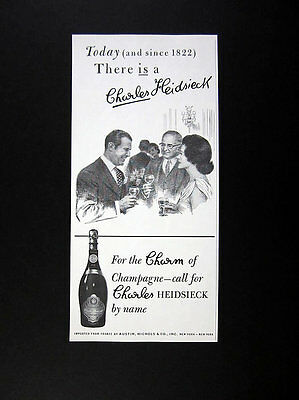 Charles Heidsieck Champagne 1970 print Ad advertisement