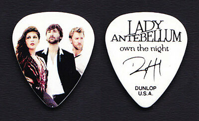 Lady Antebellum Dave Haywood Band Photo Guitar Pick 2012 Own the Night Tour