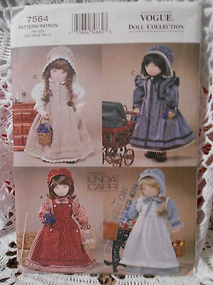 "VOGUE PRAIRIE CLOTHING for 18"" DOLL COLLECTION PATTERN 7564"