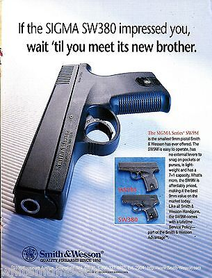 1996 SMITH & WESSON Model SW380 Sigma Series Pistol AD Advertising*
