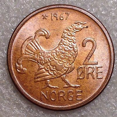 Norway 2 Ore 1967 Great Coin Bronze