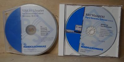 Rohde & Schwarz Visa Io Libraries & Winiqsim2 Software On Cd