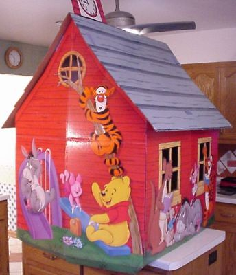 Vintage 1980's Disney Winnie The Pooh School House Play House